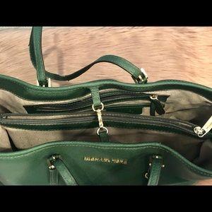 Michael Kors Bags - Leather Micheal Kors hunter green purse